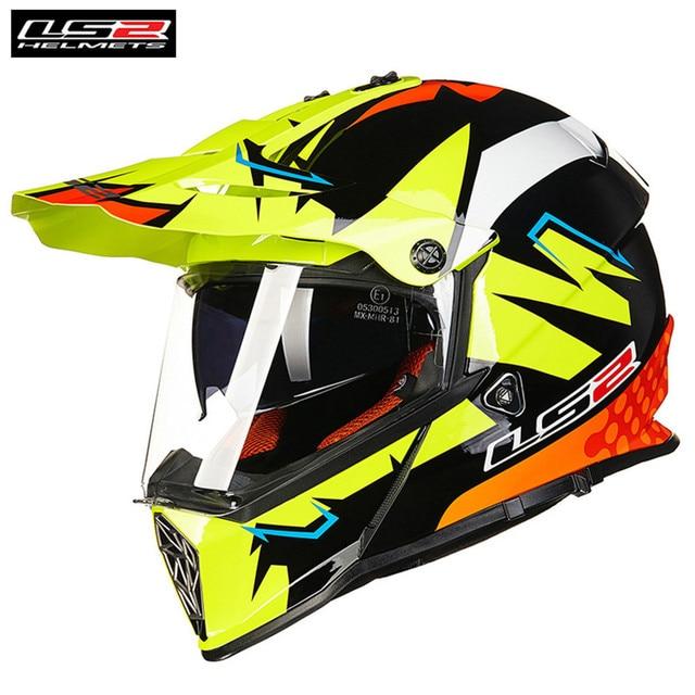 59d778f4139 LS2 MX436 PIONEER Dual Sports Motorcycle Helmet Motocross Off Road 0613 ATV  Casque Casco Moto Capacetes de Motociclista