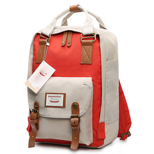 Women Backpack Girls School Bag Female Fasion Popular Back Bag Nylon Solid Patchwork Design Travel Bag Laptop Case Casual Using цена и фото