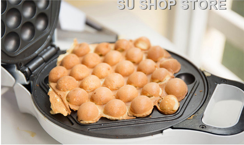 2018 HK Non-stick Automatic Household Home Electric Rotary Egg Waffle Maker Pancake Machine Cooking Tools brand new non stick electric waffle maker mini egg waffle machine kitchen appliances manual multifunction household roaster