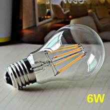 Retro sklenená LED žiarovka s vláknami v štýle Edison – stmievateľná (4 výkony)