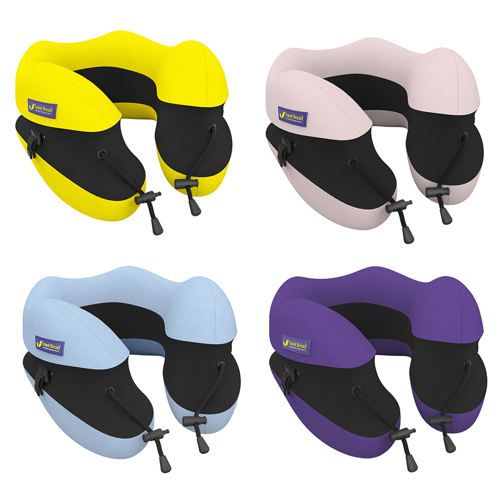 Urijk Portable Adjustable U Shape Travel Pillow Slow Rebound Memory Foam Home Office Nap Neck Pillow Car Aircraft Cushions(China)