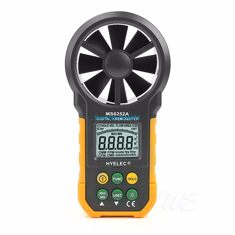 Handheld Digital Air Speed Anemometer Air Volume Measure Air Flow Test Meter MAR27_45Handheld Digital Air Speed Anemometer Air Volume Measure Air Flow Test Meter MAR27_45