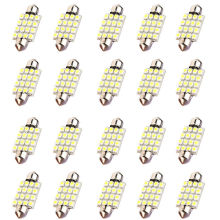 10x)  20* 39mm Dome 16 LED 3528SMD Car Festoon Interior Bulb Light Lamp 239 White 12V