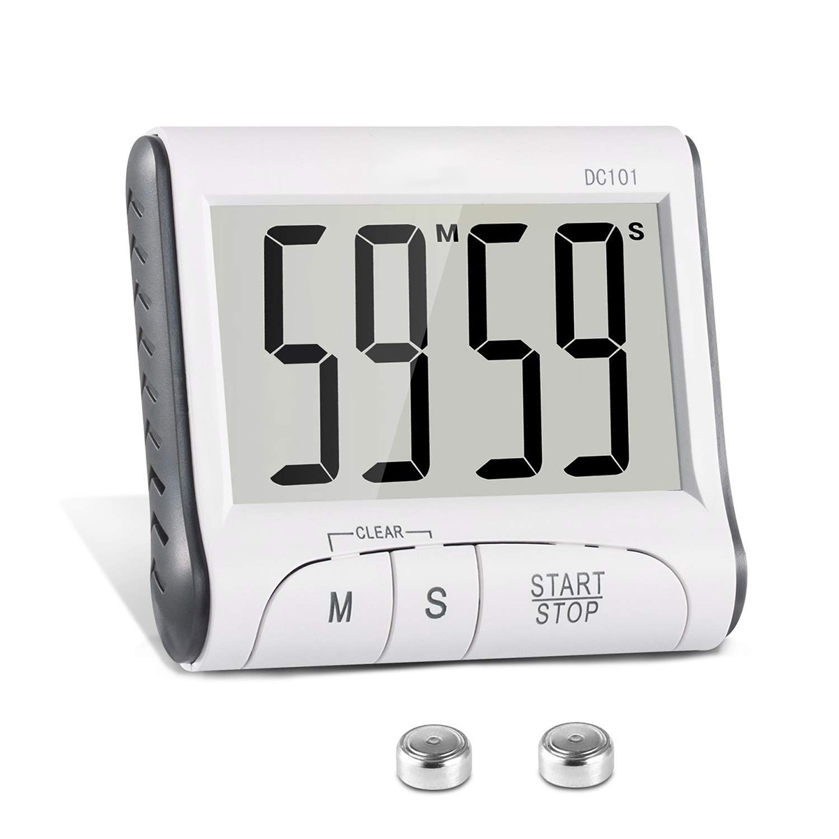 Large LCD Digital Kitchen Cooking Timer Loud Alarm 24hr Clock Magnetic Stopwatch