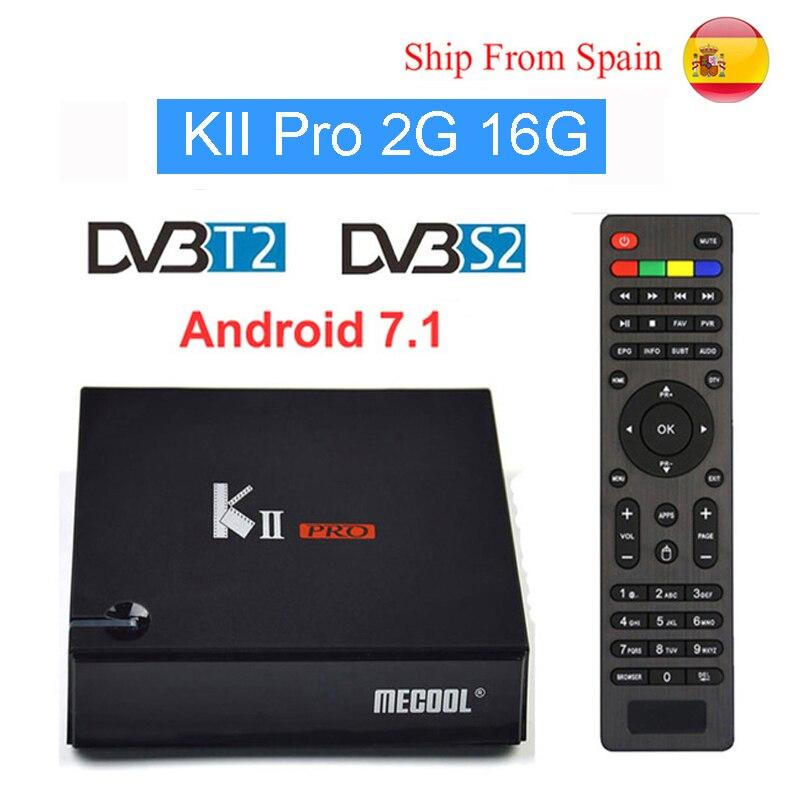 SATXTREM KII PRO DVB-S2 DVB-T2 S905D Android 7.1 TV Box Quad Core 2GB 16GB 2.4G+5.0G WiFi Bt 4.0 H.265 64Bit Multi-media Player kii pro android 5 1 1 tv box built in 2 4g