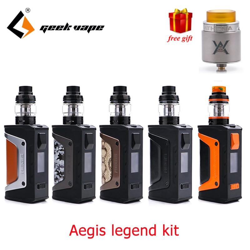 Free gift Geekvape Aegis Legend Kit powered by two 18650 batteries Geekvape aegis 200w legend box mod Aero mesh coil Tank