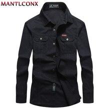 MANTLCONX Plus Size M-6XL Men Casual Long Sleeve Business Shirt Cotton Male Social Business Dress Shirt Brand Men's Clothing NEW