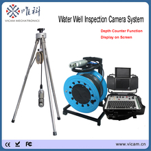 Водонепроницаемый IP68 CCTV видео вода скважина камера сверление отверстие камера с поворотной камерой панорамирования головка и Счетчик Счетчика на экране