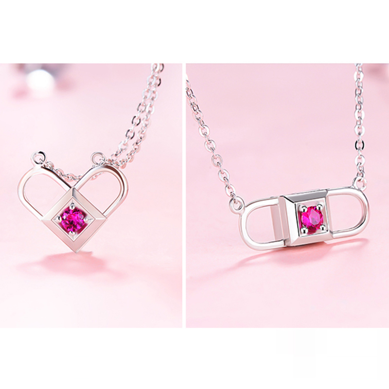 Romantic Locket Heart Charms Magic Necklace 925 Silver Love Birthday Wedding Valentine Day Gifts For Lover Girlfriend Wife Women rose petals heart love patterned valentine s day waterproof table cloth