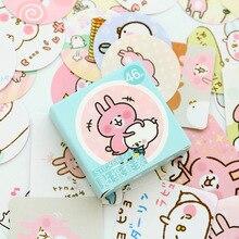 46 Pcs/bag kawaii Mini Paper Decoration DIY Scrapbook Notebook Album  Sticker Stationery Kawaii Girl stationery