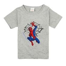 Boys Girls Short Sleeve T shirts For Children Fashion SpidermanTops 95%cotton 10 Colors Kids Clothing Baby Boys Girls T Shirt