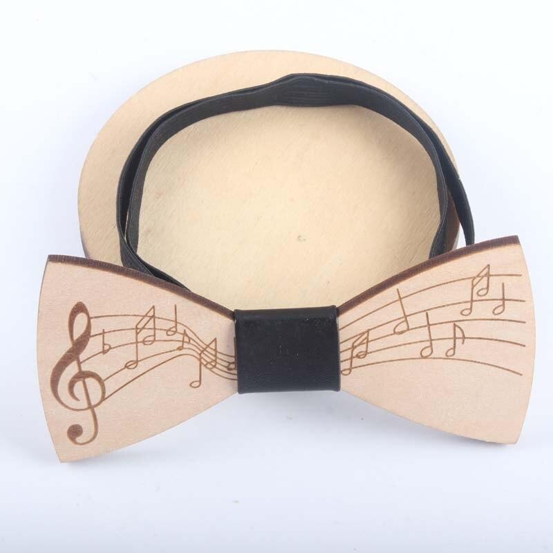 Musician Gift Wooden Bow Tie Treble Clef For Father Boyfriend Husband Teacher Student Artist Music Lover