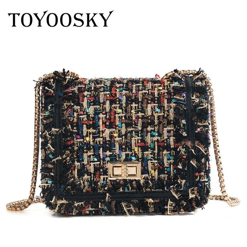 5e26b3c53af7 Toyooosky брендовые сумки через плечо для женщин 2019 зимние роскошные сумки  дизайнерские маленькие женские сумки-мессенджеры шерстяные bolsa feminina