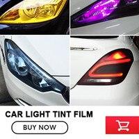 Car Light F 30CMX1M Auto Car Light Headlight Taillight Tint Styling Waterproof Protective Vinyl Film Sticker