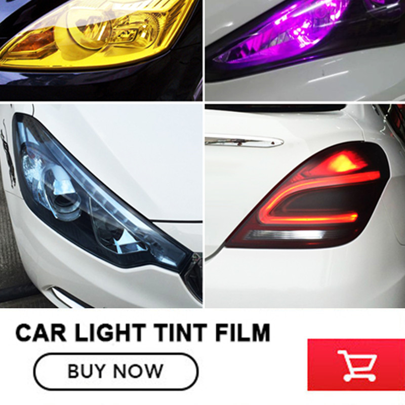 Wholesales 12 Colors 12 Rolls Size:30cm*9m/roll Auto Car Light Headlight Taillight Tint Vinyl Film Sticker Free Shipping