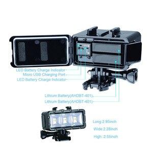 Image 3 - Go Pro 30 m Lặn Led Flash Ánh Sáng Dưới Nước lamp (2xHero4 Pin) cho GoPro Hero 6 5 3 + Phiên Xiaomi yi 4 K + lite SJCAM sj4000