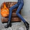 {Guoran} mujeres de invierno gruesos pantalones de terciopelo pantalones de las señoras del estiramiento de cintura alta pantalones lápiz flaco sexy pantalones de moda femenina