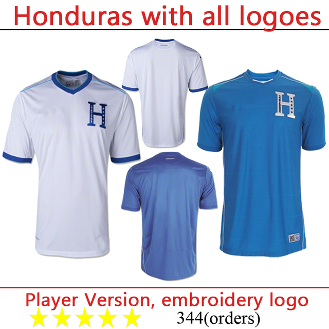 huge discount 49d7e 668d4 US $21.9 |Honduras jersey with all logoes Grade Origina FREE SHIPPING  thailand quality world cup soccer jersey soccer shirt in Honduras jersey  with ...