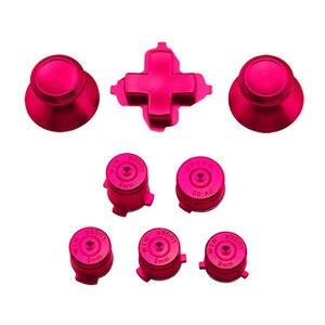 Image 4 - アルミニウム金属サムスティックジョイスティックアナログキャップ弾丸 ABXY ガイドボタン D パッド Dpad ボタン Xbox 1 コントローラの交換