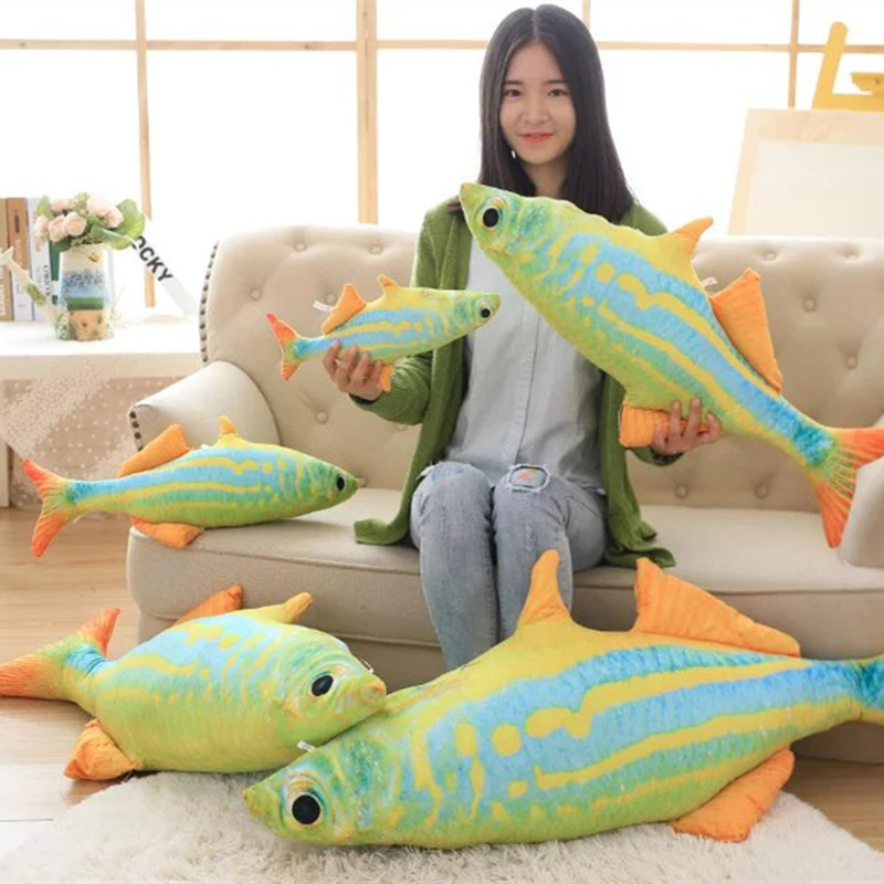 New Green Ocean Fish Creative Big Siz font b Plush b font font b And b