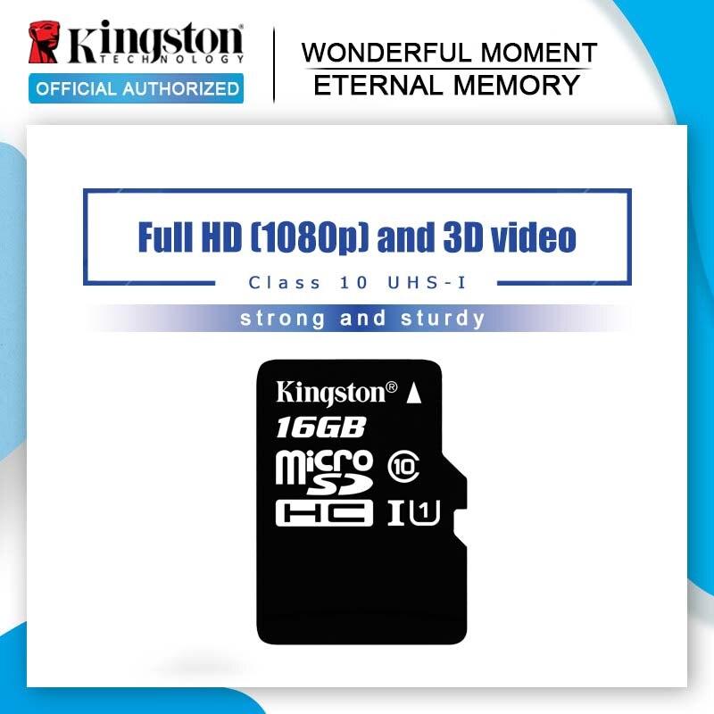 100% Original de Kingston tarjeta Micro SD 64GB tarjeta de memoria 32GB 128GB Class10 tarjeta TF 16GB MicroSD UHS-1 8GB de memoria Flash clase 4