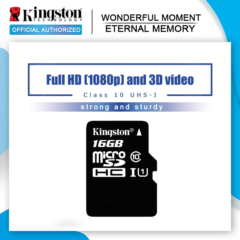 Professional Kingston 16GB MicroSDHC Card for ZTE Reef Smartphone with custom formatting and Standard SD Adapter. Class 4 .