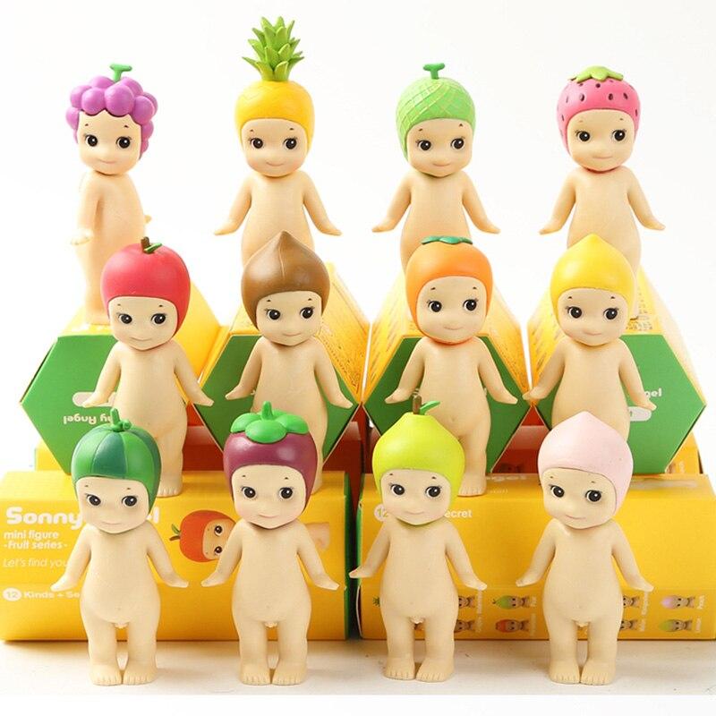 12pcs/set Sonny Angel Fruit Series Mini PVC Action Figure Model Toy Doll Gift
