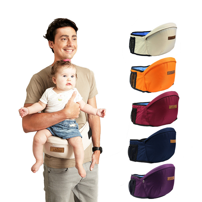 Baby Carrier Backpack Belt Waist-Stool-Walkers Hold-Waist Hip-Seat Kangaroo Breathable