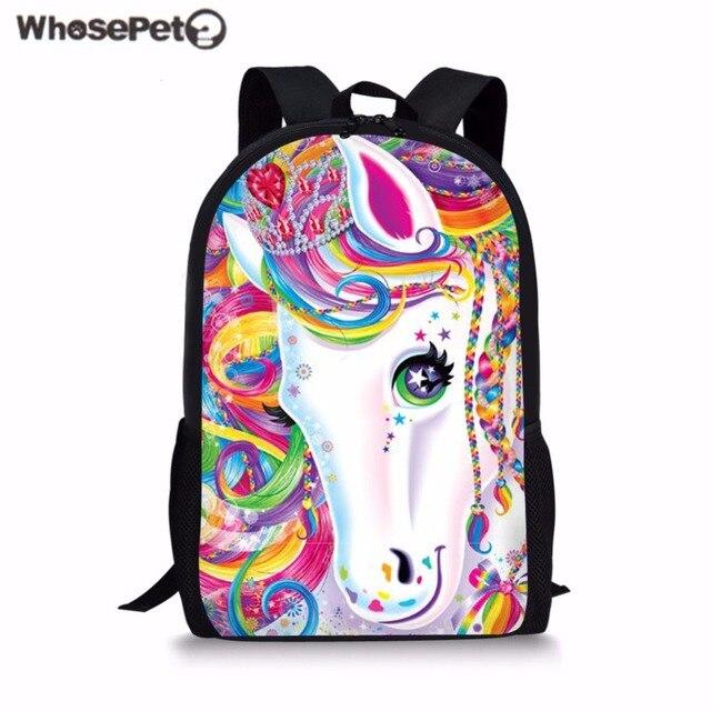 47c85c3358 WHOSEPET Girls School Bag Funny Dabbing Unicorn Primary School Backpack for  Children Student Bookbag Rucksack Mochila