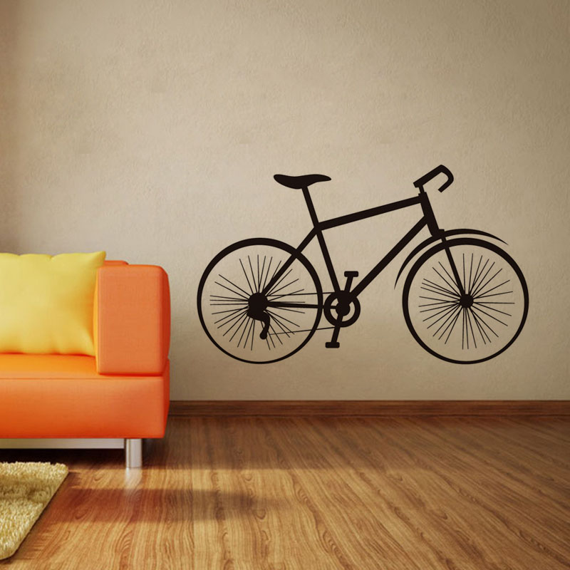 Clic Bicycle Wall Decals Home Decor High Quality Wheel Bike Art For Living