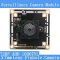 """3.7 мм камеры-Обскуры HD ЭН 1/4 """"датчик изображения CMOS Четыре в одном 8901A + OV9732 1000TVL ВИДЕОНАБЛЮДЕНИЯ ночного видения модуль камеры совета с"""