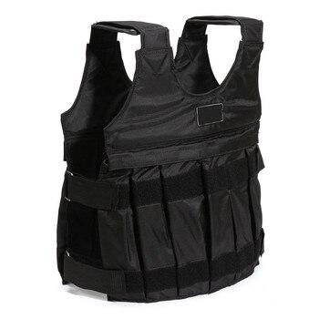Лидер продаж 110LBS/50 кг взвешенный жилет для тренерское оборудование для бокса Регулируемый упражнения Черная куртка Swat Санда спарринг защит...