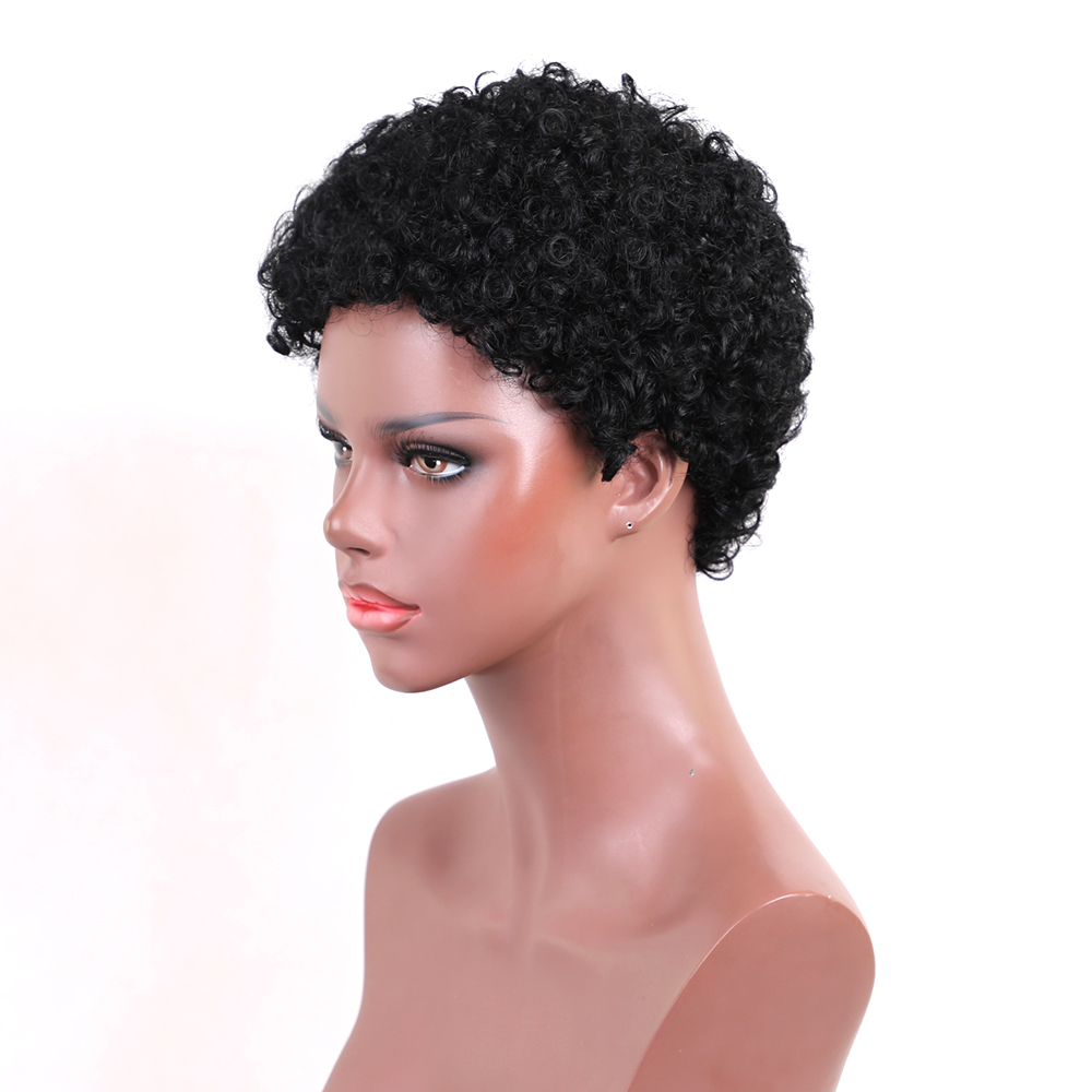 Esin blandade hår peruker 30% syntetisk hår + 70% naturligt hår - Syntetiskt hår - Foto 4