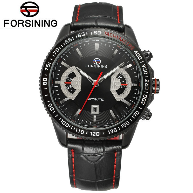 купить 2017 Forsining Relogios Masculino Casual Men's Day Auto Mechanical Wrist Watch Best  Gift Free Ship по цене 1801.38 рублей