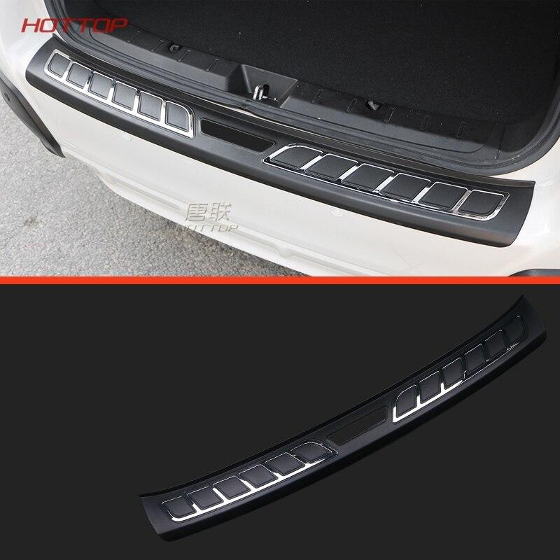 Acier inoxydable Pare-chocs Arrière Plaque de Pied Couverture Autocollant Pour Subaru Crosstrek XV Impreza Hatchback 2018 Pour American standard seulement