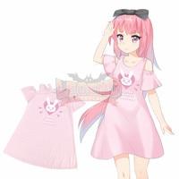 Hot Game Heros Dva Cosplay Adult Costume Pink Dress D Va Dress Skirt Special Design