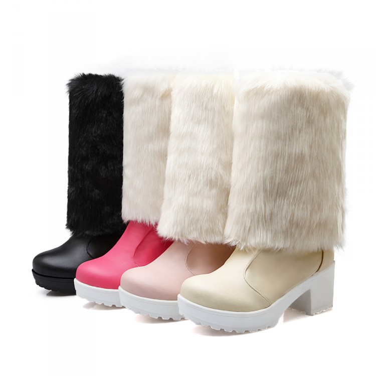 ФОТО 2017 Sale Real Botas Mujer Winter Boots Thicken Plush Women The Winter Snow Boots Fashion Shoes Brand For Warm Size 34-43 K5