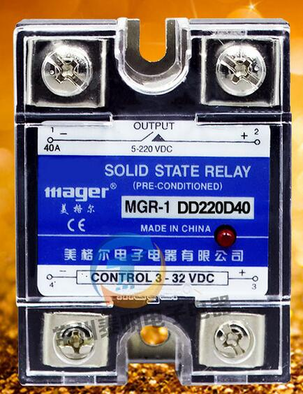 mager Genuine new original  single-phase SSR SSR single-phase solid-state relay 40A DC-DC DC control DC MGR-1 DD220D40 ssr mgr 1 d4860 meike er normally open type single phase solid state relay 60a dc ac