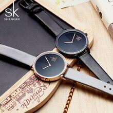 SK 2018 Новое поступление Для женщин Мода Часы лучший бренд класса люкс Простой наручные женский чистый черный Стиль кварц-Часы Montre Femme
