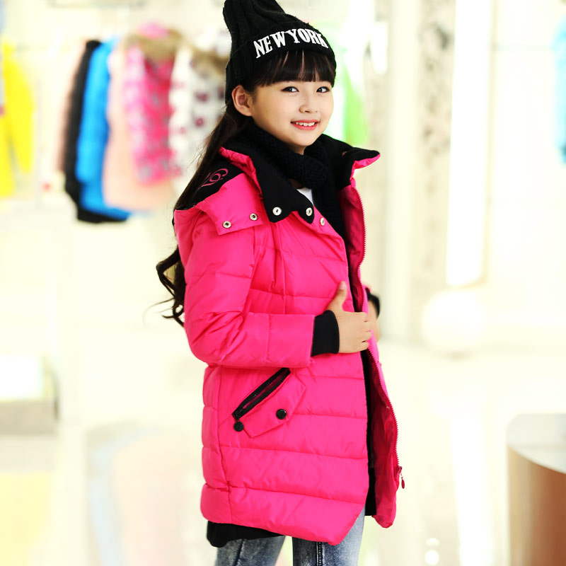 girls outerwear christmas dress children s winter jackets down coats and jackets hooded clothes down garment