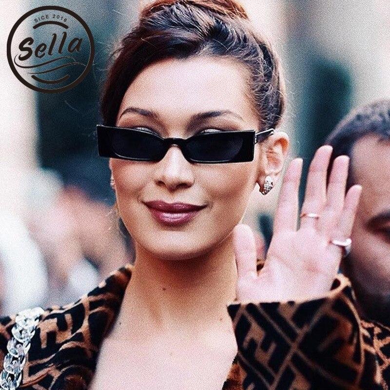 Sella Venta caliente estilo europeo elegante pequeño marco mujeres hombres gafas de sol Retro clásico forma estrecha verano sol gafas