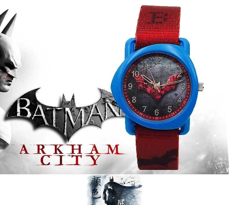 Batman Boy Boy Canvas Watch Cool Fashion Student Cartoon Waterproof Quartz Electronic Child Table