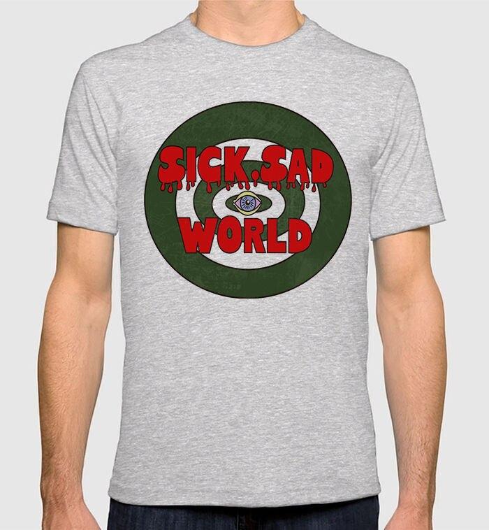 2018 Crossfit T ShirtsDaria Sick Sad World T-shirt Mens Womens New Cotton Tee Print Summer Tops Tees