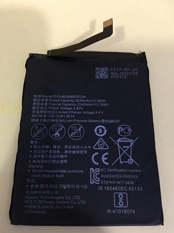 Dutiful Jinsuli Hb356687ecw For Huawei Nova 2 Plus Honor 7x Bnd-l21 Bnd-l22 Bnd-al10 Bnd-tl10 Mate Se Bnd-l24 3340mah Battery Regular Tea Drinking Improves Your Health