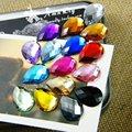 500 unids/bolsa 13*18mm la Parte Posterior Plana de Lágrima Forma Rhinestones de Acrílico, Plástico Acrílico 3D Nail Art/ropa/de La Joyería Del Rhinestone