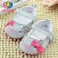 JENNY miúdo meninas gato dos desenhos animados de algodão do bebê recém-nascido primeiros caminhantes crianças infantis macio não-solas antiderrapantes sapatos para os bebés 0-1 anos