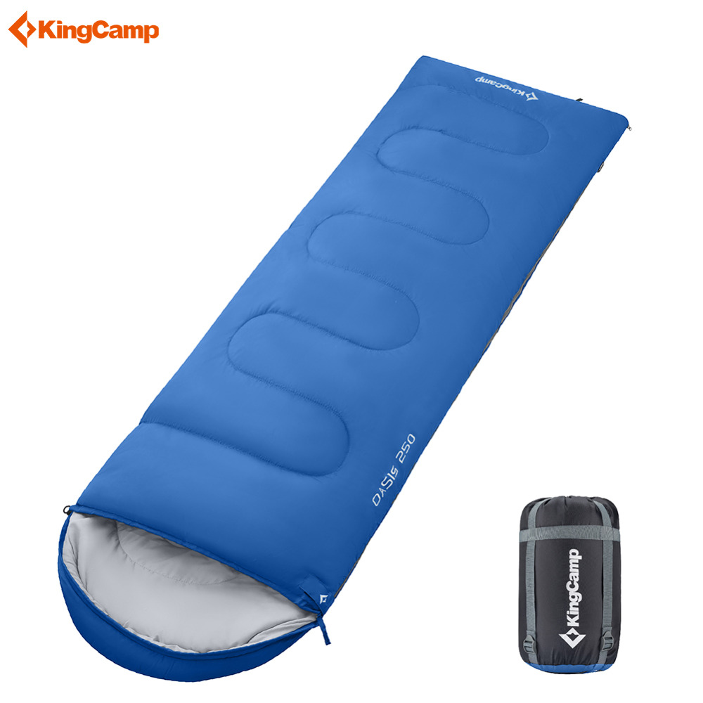 Kingcamp 220x75cm Ultralight Sleeping Bag Splicing Double Adult Large Size 3 Season Cotton Sleeping Bags For Camping Hiking kingcamp 220x75cm camping sleeping bag polyester winter warm outdoor sleeping bags with compression bag