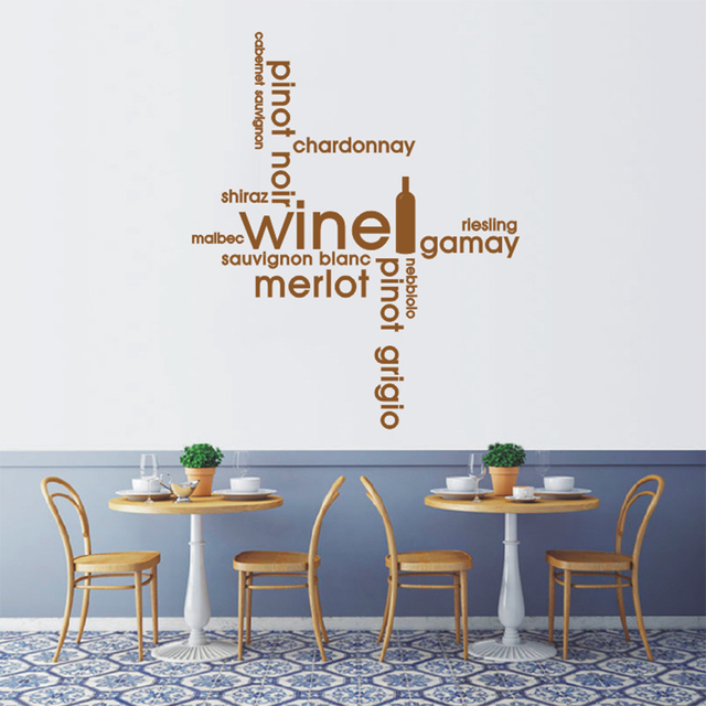 asapfor wine quotes kitchen dining montage wall sticker art decal