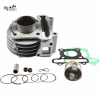 39mm Big Bore Motorcycle Cylinder Kit Piston Rings For GY6 50cc Scooter Moped TAOTAO ATV with 139QMB 139QMA Jonway Baotian