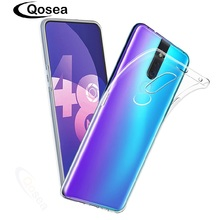 Qosea For Oppo F11 Pro Case Ultrathin Clear Silicone Soft TPU Transparent Shockproof Skin Back Cover